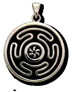 Hecate S Wheel Nebula Medallion Pendant Mc Hecwheel