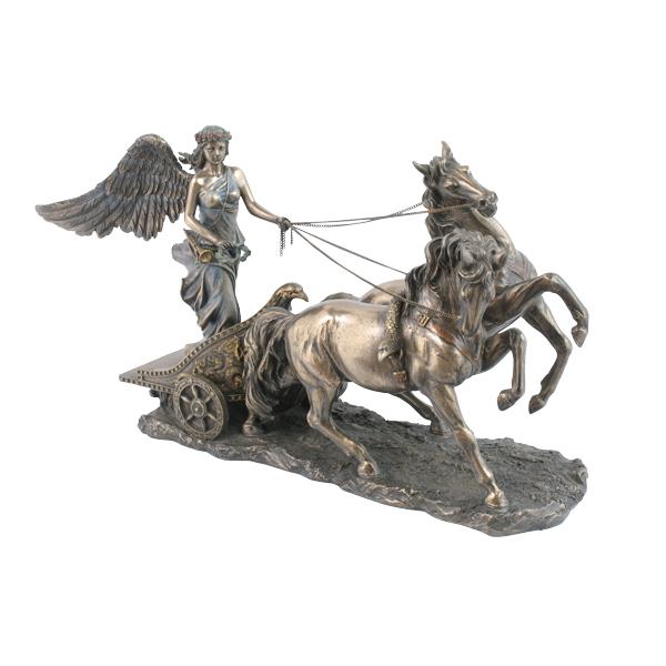 7111 Goddess Nike Riding Chariot Statue Bronze 7111