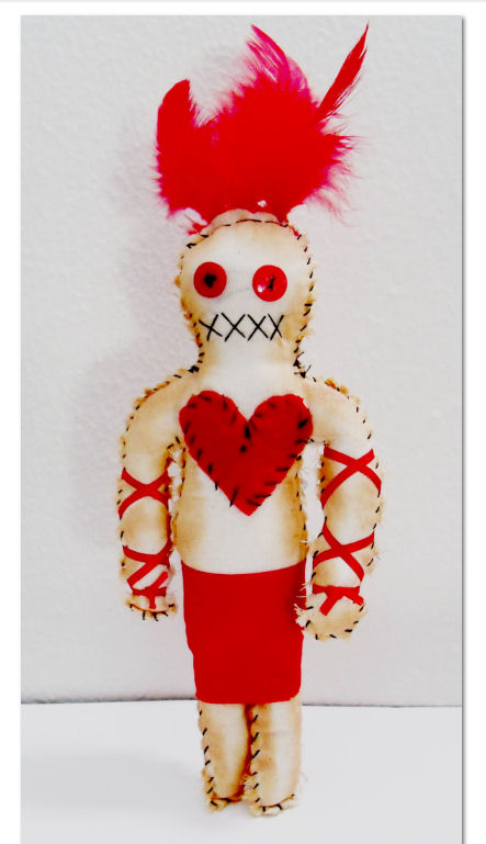 A Shot Of Vitality Red Voodoo Doll For Energy At Revd