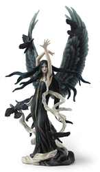 "12"" Faery of Ravens by Nene Thomas Fairy Statue 12"" Faery of Ravens by Nene Thomas Fairy Statue"