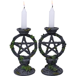 Set of Two Nemesis Now Pentacle and Ivy Candleholder 2 Nemesis Now Pentacle and Ivy Candleholder