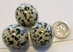 20mm Mini Dalmation Stone Sphere   - BWDS