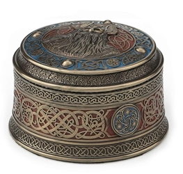"4"" Norse God Odin Round Viking Trinket Box 4"" Norse God Odin Round Viking Trinket Box"