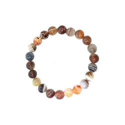 8mm Beaded Crystal Stone Bracelet BOTSWANA AGATE 8mm Wonderful Beaded Crystal Stone Bracelet, 8MM Bracelet , protection bracelet,moonstone bracelet, healing bracelet