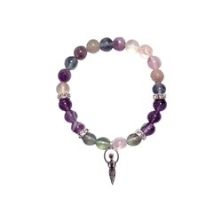 8mm Wonderful Fluorite w/ Goddess Beaded Crystal Stone Bracelet 8mm Wonderful Fluorite w/ Goddess Beaded Crystal Stone Bracelet, 8MM Bracelet , protection bracelet,moonstone bracelet, healing bracelet