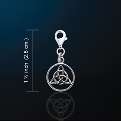 Adorable Little Clip On Triquetra Trinity Knot Charm Pendant Adorable Little Clip On Triquetra Trinity Knot Charm Pendant