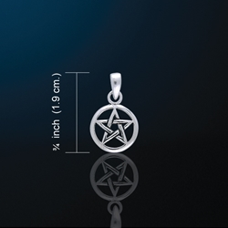 Adorable Little Pentacle Charm Pendant Pagan Wiccan Adorable Little Clip on Pentacle Charm Pendant Pagan Wiccan