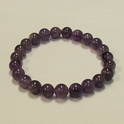 Amethyst for Protection and Creativity 8mm Beaded Crystal Stone Bracelet  Amethyst for Protection and Creativity 8mm Beaded Crystal Stone Bracelet