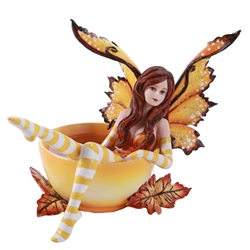 Amy Brown Cup Fairy Autumn Faery Fairy Figurine     Amy Brown Cup Fairy Autumn Faery Fairy Figurine, Fairy in a cup Statue