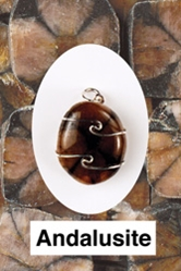 Andalusite Wire Wrapped Pendant  Comfort in Physical World