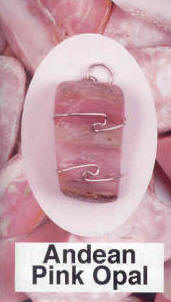 Andean Pink Opal Pendant   Healing old wounds, inner child