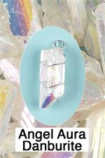 Angel Aura Quartz Wire Wrap Pendant Connecting with guides and Angels