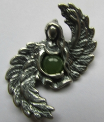 Angel of Abundance Pendant with Jade