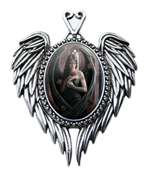Anne Stokes Angel Rose Cameo Pendant