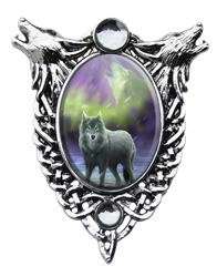 Anne Stokes Aura Wolf Cameo Pendant