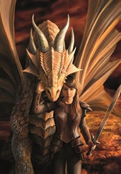 Anne Stokes Inner Strength Dragon Card    Anne Stokes Inner Strength Dragon Card