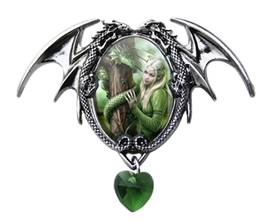Anne Stokes Kindred Spirits Cameo Pendant Anne Stokes Kindred Spirits Cameo Pendant