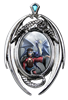 Anne Stokes Look To The East Cameo Pendant  Anne Stokes Look To The East Cameo Pendant