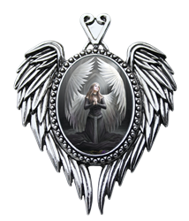 Anne Stokes Prayer For The Fallen Cameo Pendant   Anne Stokes Prayer For The Fallen Cameo Pendant