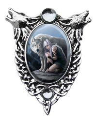 Anne Stokes Protector Cameo  Pendant Anne Stokes Protector Cameo  Pendant