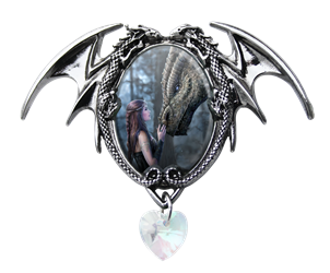 Anne Stokes Once Upon A Time Cameo Pendant  Anne Stokes Once Upon A Time Cameo Pendant