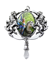 Anne Stokes Realm Of Enchantment Unicorn Cameo Pendant Anne Stokes Realm Of Enchantment Cameo Pendant
