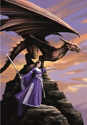 Anne Stokes THE SENTINEL Dragon Card     Anne Stokes THE SENTINEL Dragon Card