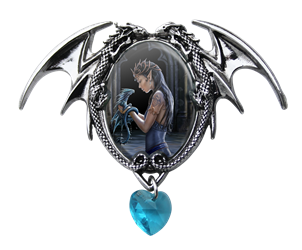 Anne Stokes Water Dragon Cameo Pendant   Anne Stokes Water Dragon Cameo Pendant