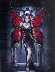 Arachnafaria Canvas Art Print by Anne Stokes  Arachnafaria Canvas Art Print by Anne Stokes