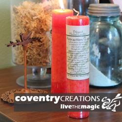 Attraction/Love Blessed Herbal Spell Candle