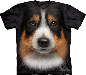 Australian Shepherd Dog Face T-Shirt Australian Shepherd Dog Face T-Shirt, Dog Tee Shirt
