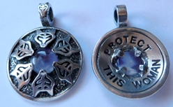"Avalon Blessings Pendant ""Protect This Woman"" Pewter Pendant"