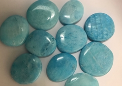 "Beautiful Blue Aragonite Smooth Worry Stones 1.5""-2"" Beautiful Blue Aragonite Smooth Worry Stones 1.5""-2"""