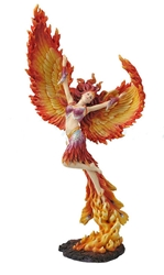 Beautiful, Large Lady Phoenix Statue