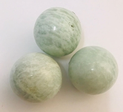 Beautiful Seafoam Sheen Amazonite Spheres Beautiful Seafoam Sheen Amazonite Spheres