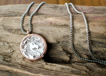 "Beautiful Unicorn Aromatherapy Necklace Pendant ""Imbolc"""