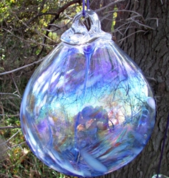 Beautiful Witchball with Mother of Pearl Luster - Blue