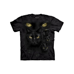 Black Cat Moon Eyes Tee Shirt Black Cat Moon Eyes Tee Shirt