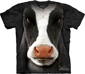 Black Cow Face Big Face Tee Shirt 3347