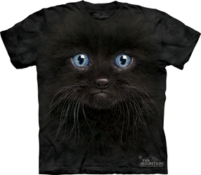 Black Kitten Face T-Shirt 3503