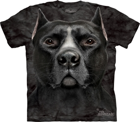 Black Pitbull Head Tee Shirt Black Pitbull Head Tee Shirt