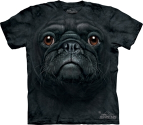 Black Pug Face 3548 T-Shirt