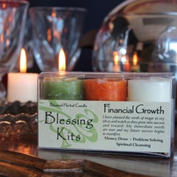 Blessed Herbal Candle Financial Growth Blessing Kit