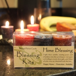 Blessed Herbal Candle Home Blessing Blessing Kit