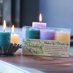 Blessed Herbal Candle Make Up or Break Up Blessing Kit