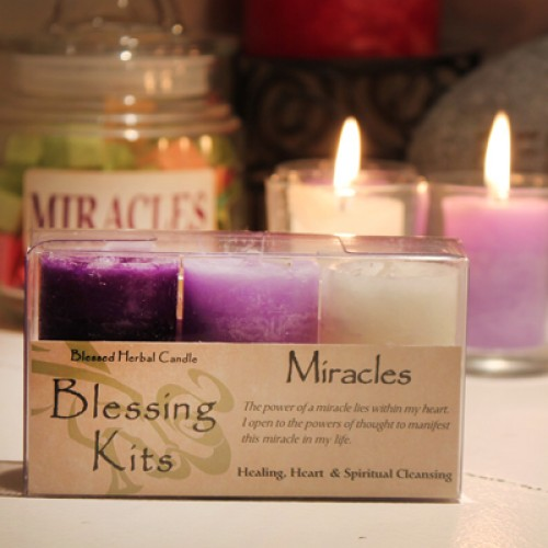Blessed Herbal Candle Miracles Blessing Kit