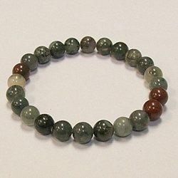 Bloodstone for Health and Serenity 8mm Beaded Crystal Stone Bracelet Bloodstone for Health and Serenity 8mm Beaded Crystal Stone Bracelet