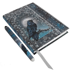 Book of Shadows Raven Embossed Journal with Pen