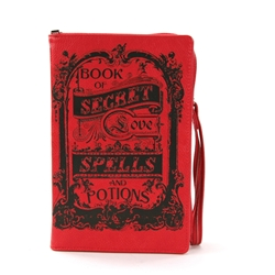Book of Spells for Love Book Clutch Bag Book of Spells for Love Book Clutch Bag