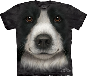 Border Collie Dog Face T-Shirt Border Collie Dog Face T-Shirt, Dog Face Tee Shirt